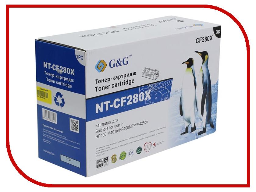 Картридж G&amp;G NT-CF280X Black для HP LaserJet Pro400 M401 / M425<br>