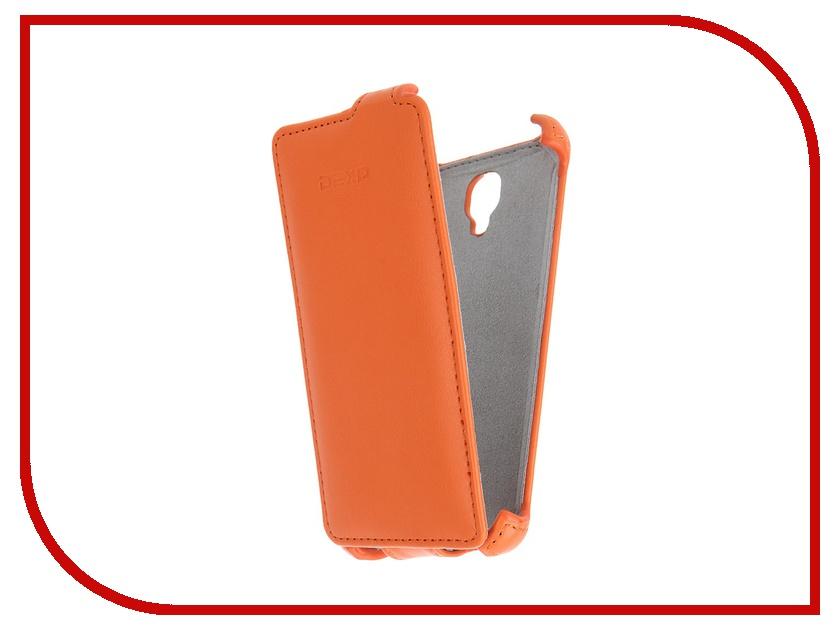 Аксессуар Чехол-флип DEXP Ixion E140 Orange dexp e140 аккумулятор