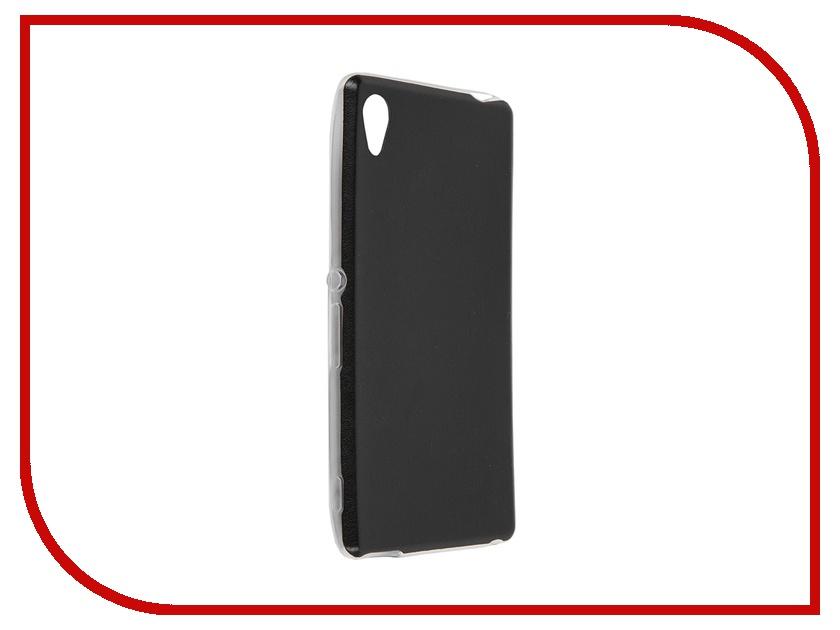 Аксессуар Чехол-накладка Sony Xperia M4 BROSCO Black M4A-LEATHER-TPU-BLACK<br>