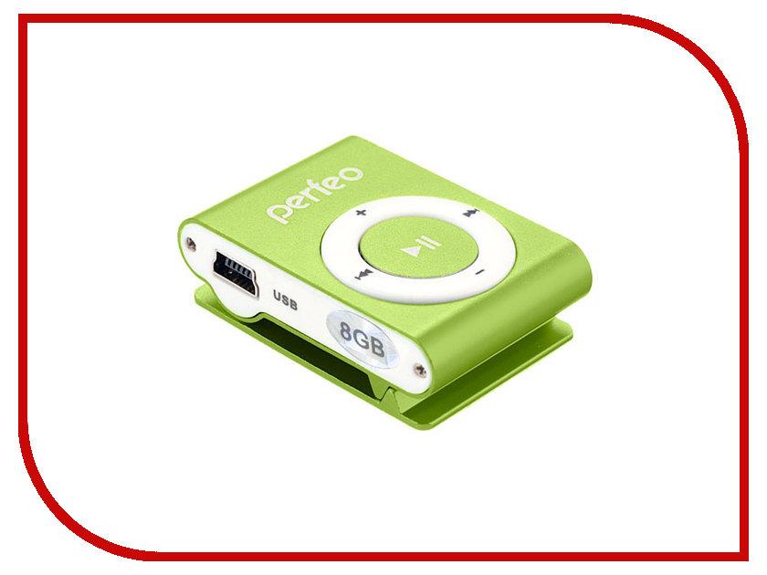 Плеер Perfeo VI-M001 Music Clip Titanium 8Gb Green<br>