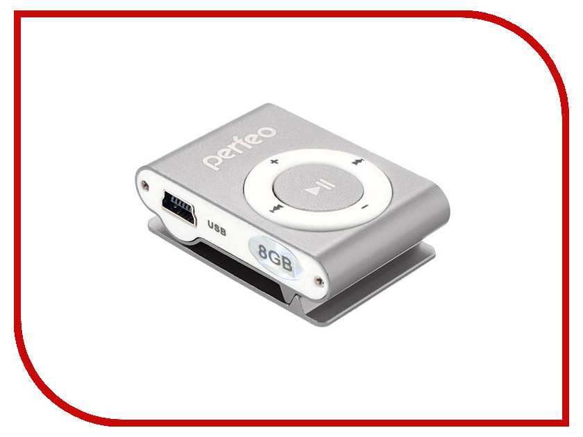 Плеер Perfeo VI-M001 Music Clip Titanium 8Gb Silver<br>