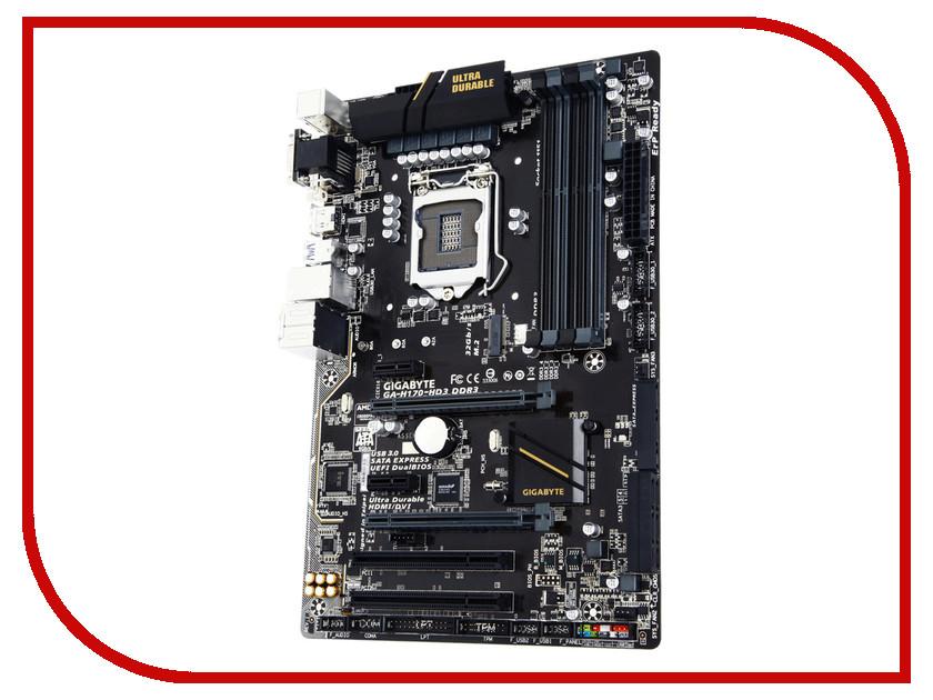 Материнская плата GigaByte GA-H170-HD3 DDR3<br>