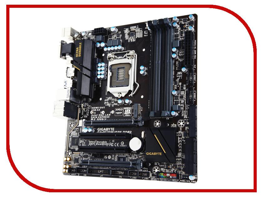 Gigabyte Материнская плата Gigabyte GA-H170M-D3H DDR3