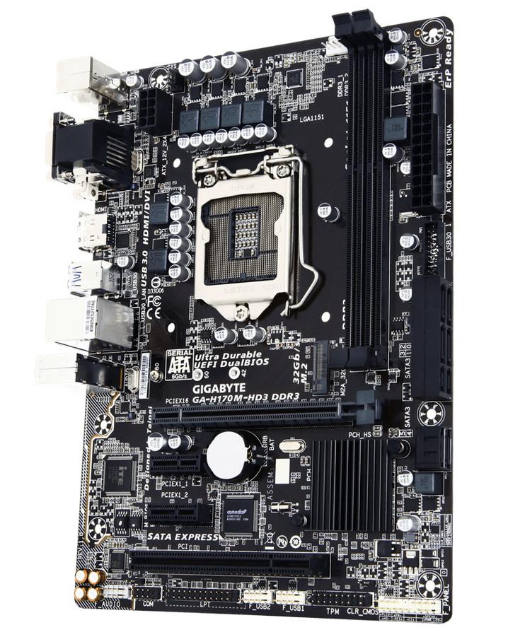 Материнская плата Gigabyte GA-H170M-HD3 DDR3<br>