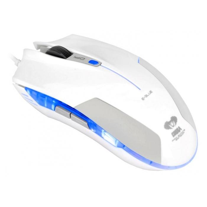 Мышь проводная E-Blue Cobra EMS108WH White USB<br>