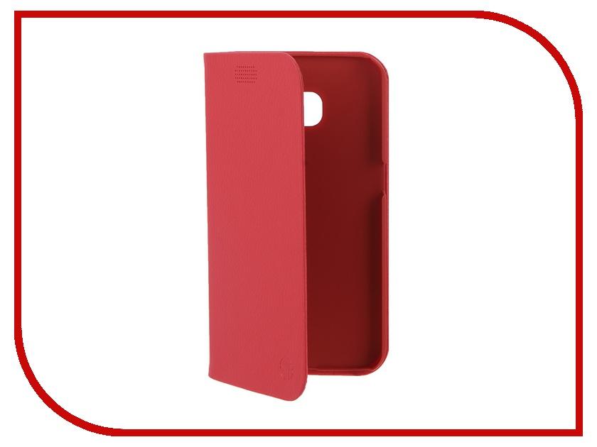 Аксессуар Чехол Samsung G925F Galaxy S6 Edge DRACO Tigris PU Flip Red<br>
