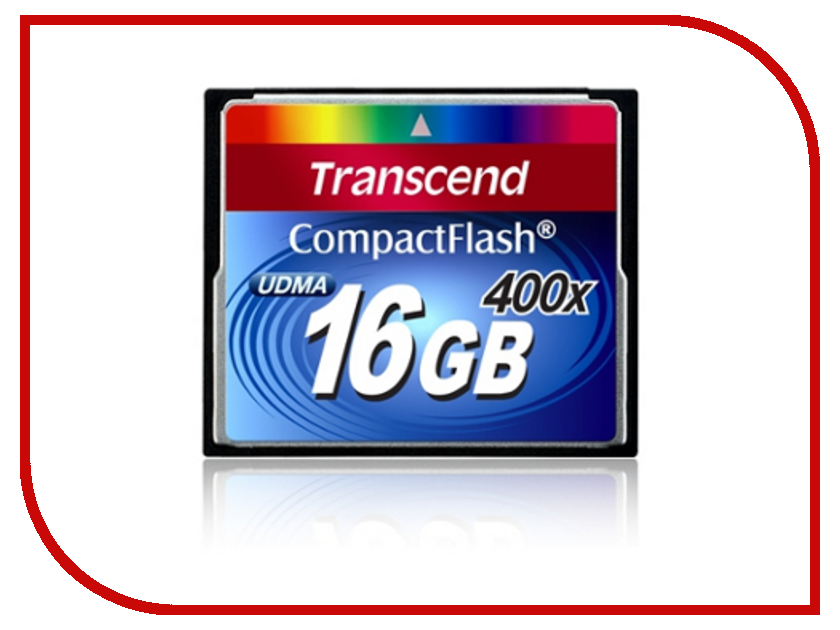 Карта памяти Transcend TS16GCF400 карта памяти compact flash 16gb transcend 400x ts16gcf400