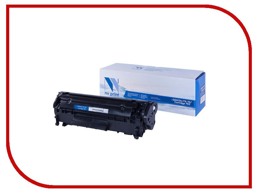 Картридж NV Print Q2612A/FX-10/Can703 для LJ 1010/1015/1022/3020 L100/M4010 2pcs alzenit oem new for hp 1010 1012 1015 1020 3015 3020 3030 charge roller q2612a printer parts
