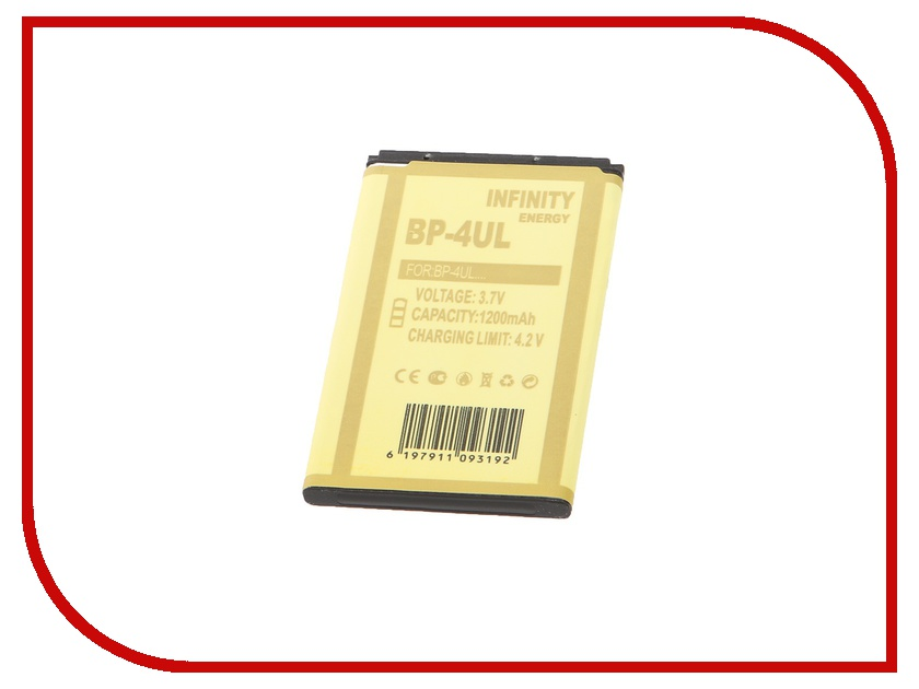 Аксессуар Аккумулятор Infinity Nokia BL-4UL 1200 mAh<br>