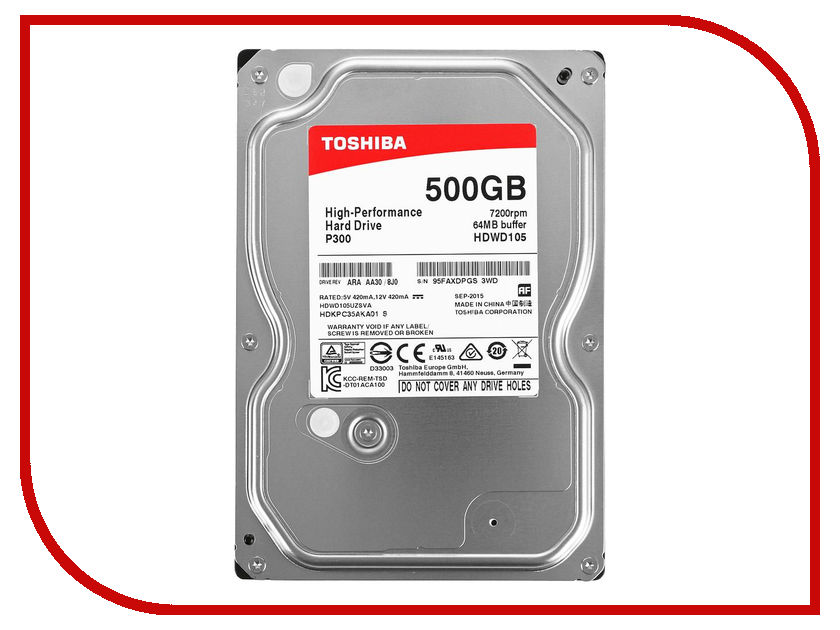 Жесткий диск 500Gb - Toshiba HDWD105UZSVA toshiba mq01abd050 цена