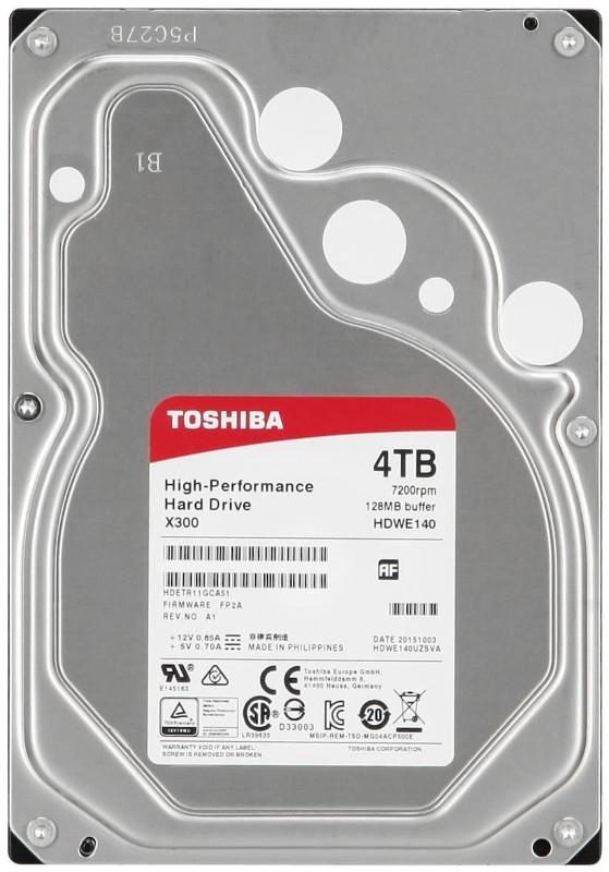Жесткий диск Toshiba 4Tb HDWE140EZSTA / HDWE140UZSVA — HDWE140EZSTA