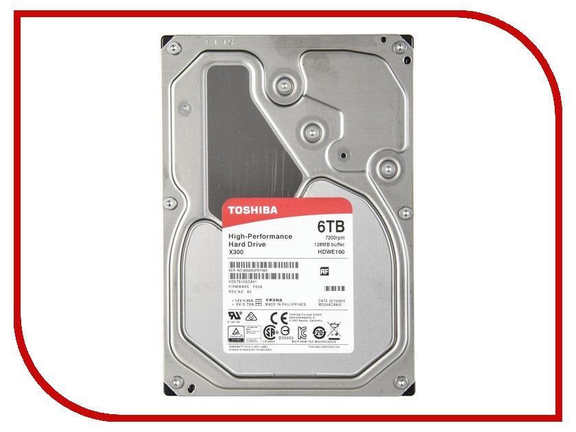 Жесткий диск 6Tb - Toshiba HDWE160EZSTA / HDWE160UZSVA toshiba p300 hdwd130uzsva