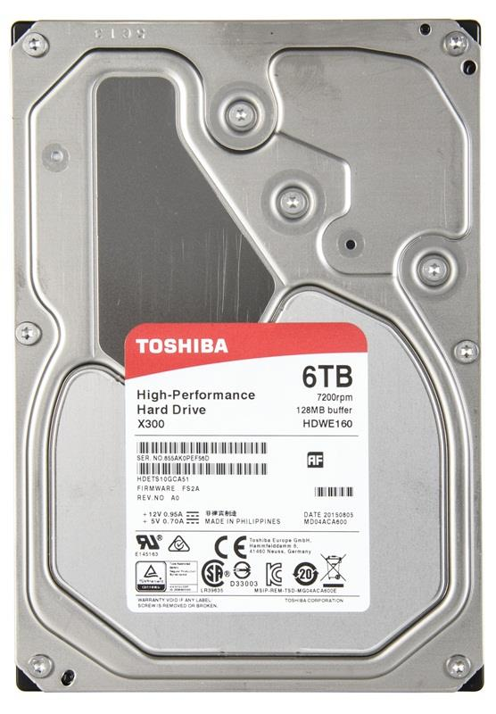 Жесткий диск Toshiba 6Tb HDWE160EZSTA / HDWE160UZSVA жесткий диск 3 5 2 tb 5700rpm 64mb cache toshiba video streaming v300 sata iii 6 gb s hdwu120uzsva