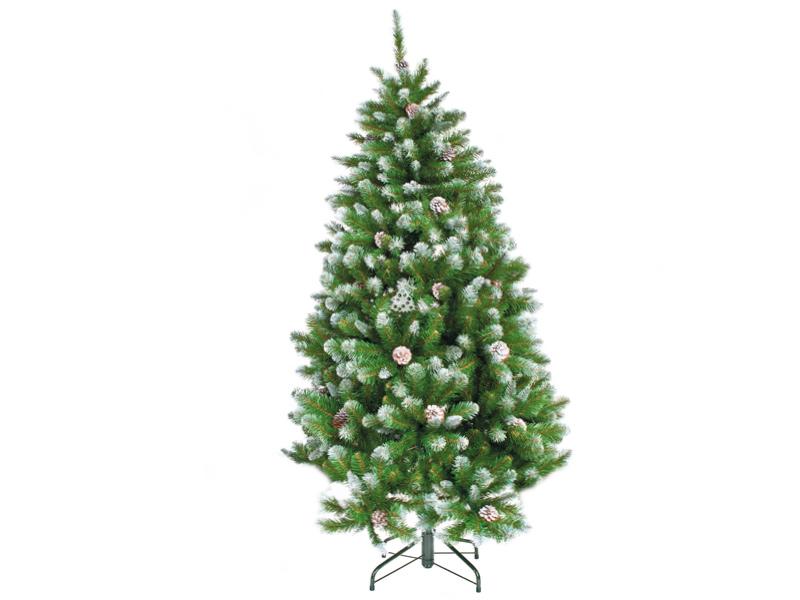 Ель Triumph Tree Императрица с шишками 155cm Заснеженная