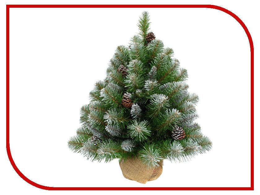Искусственная Ель Triumph Tree Императрица с шишками 60cm В мешочке Заснеженная