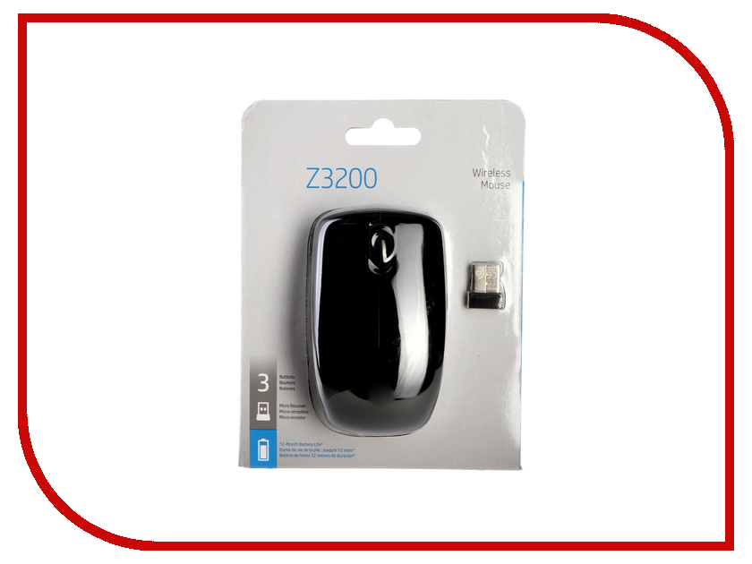 Мышь HP Z3200 Wireless USB Black J0E44AA
