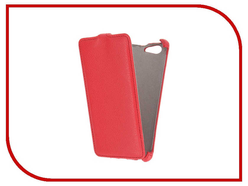 Аксессуар Чехол Sony Xperia M5 Activ Flip Leather Red 51267