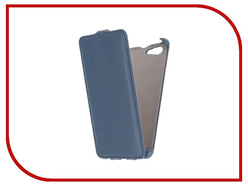Аксессуар Чехол Sony Xperia M5 Activ Flip Leather Blue 51269<br>