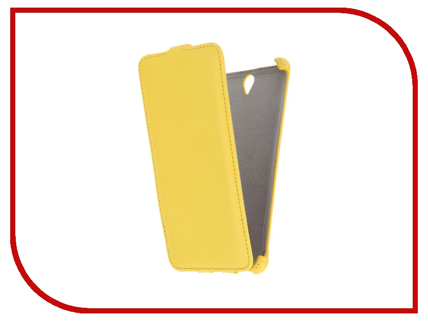 Аксессуар Чехол Sony Xperia C5 Ultra Activ Flip Leather Yellow 51283