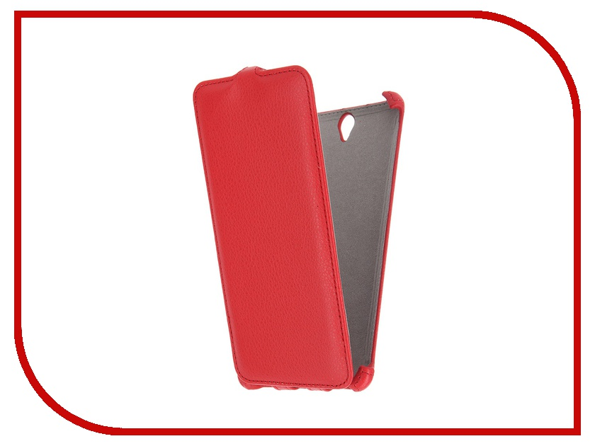 Аксессуар Чехол Sony Xperia C5 Ultra Activ Flip Leather Red 51279