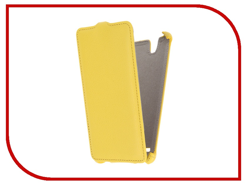 Аксессуар Чехол Sony Xperia C4 Activ Flip Leather Yellow 51274