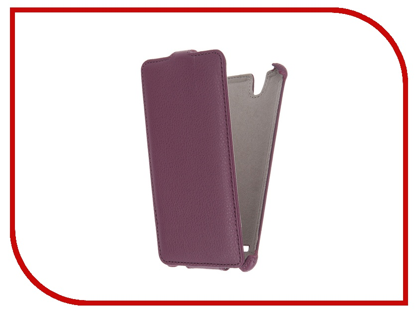 Аксессуар Чехол Sony Xperia C4 Activ Flip Leather Violet 51273