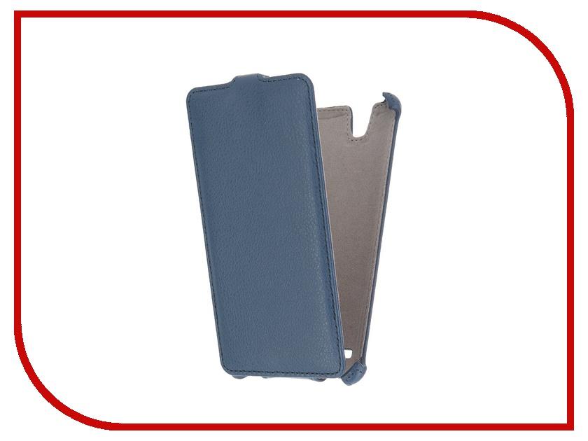 Аксессуар Чехол Sony Xperia C4 Activ Flip Leather Blue 51272