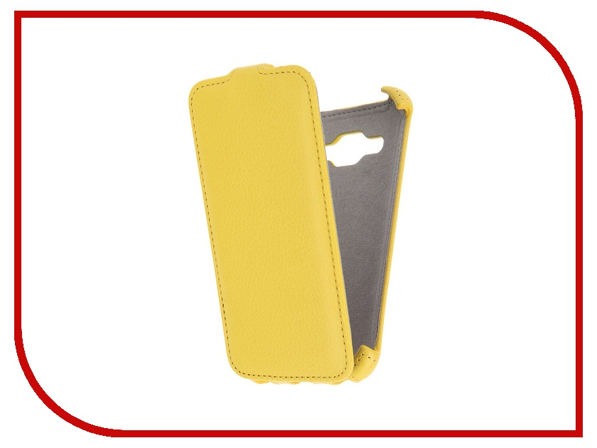 Аксессуар Чехол Samsung Galaxy Core Prime VE Activ Flip Leather Yellow 51652