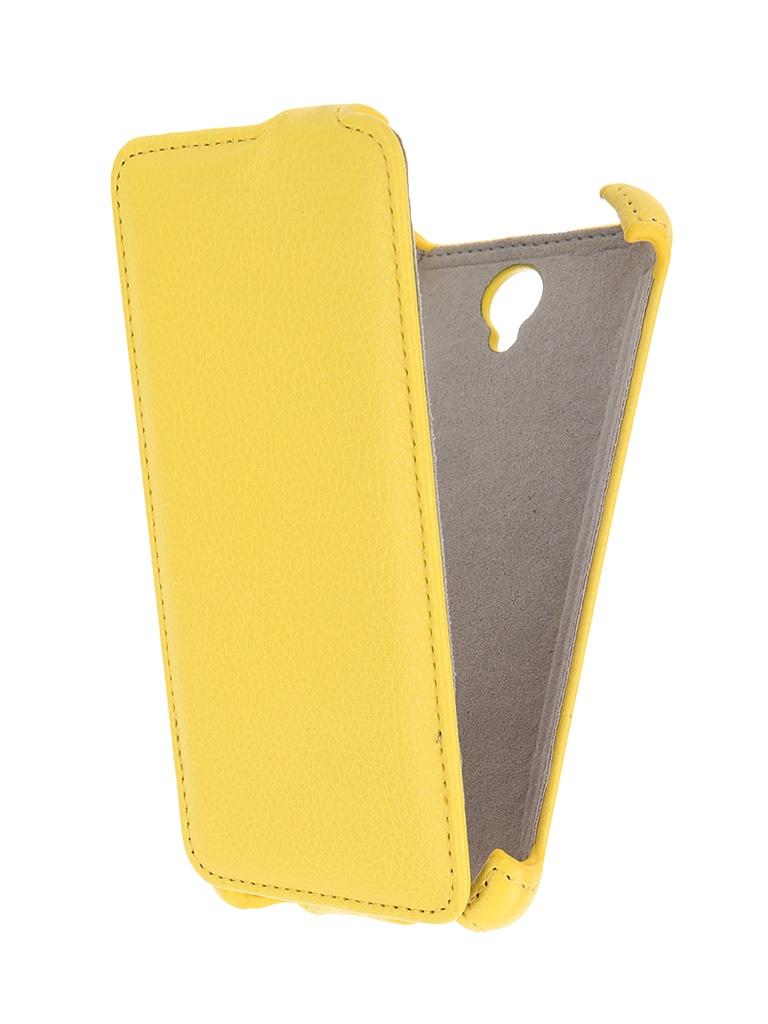 ��������� ����� Lenovo A5000 Activ Flip Leather Yellow 51253