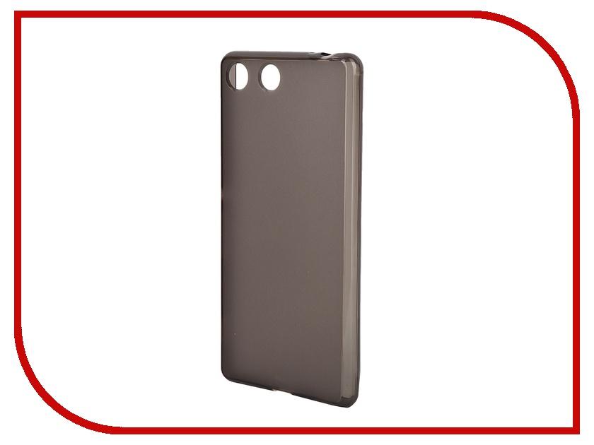 ��������� ����� Sony Xperia M5 Muvit MFX Dark Smoke Minigel Case Translucent SESKI0063