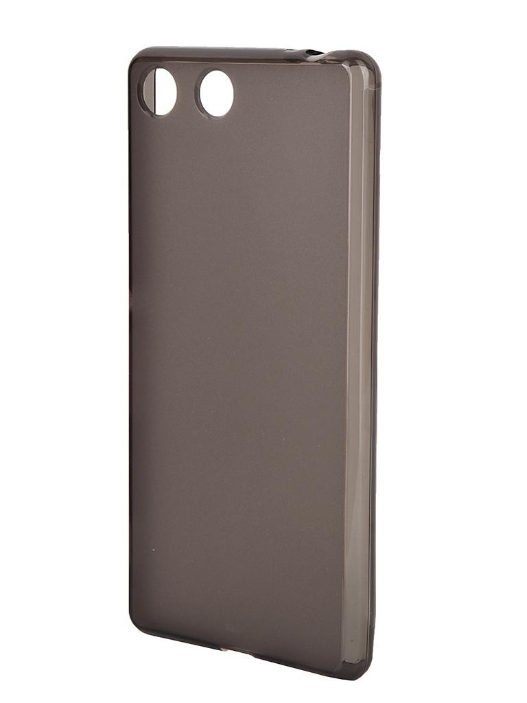 Аксессуар Чехол Sony Xperia M5 Muvit MFX Dark Smoke Minigel Case Translucent SESKI0063<br>
