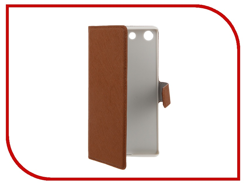 Аксессуар Чехол Sony Xperia M5 Muvit MFX Wallet Folio Case Brown SEWAL0020<br>