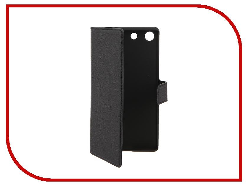 Аксессуар Чехол Sony Xperia M5 Muvit MFX Wallet Folio Case Black SEWAL0019<br>