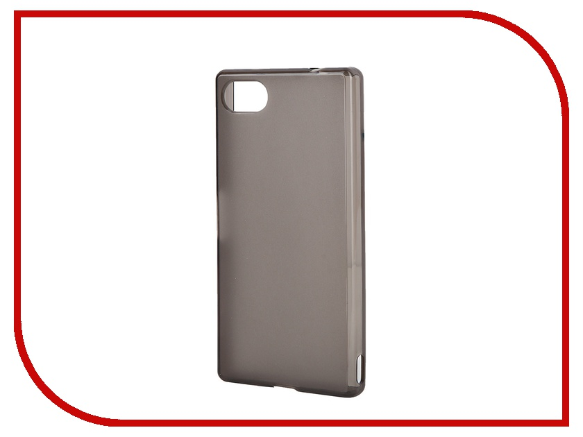 Аксессуар Чехол Sony Xperia Z5 Compact Muvit MFX Dark Smoke Minigel Case Translucent SESKI0066<br>