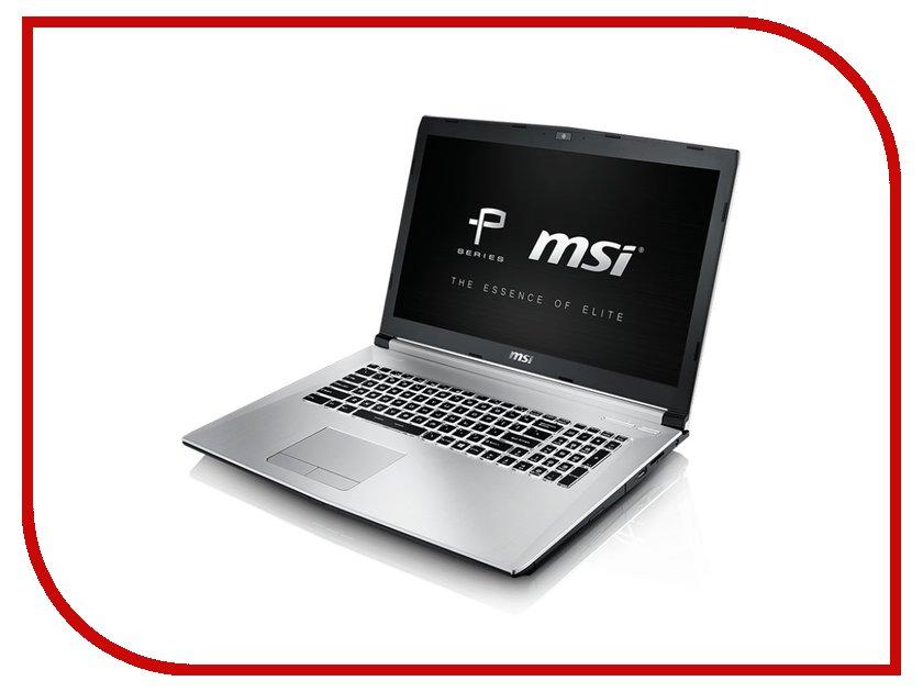 Ноутбук MSI PE70 6QE-062RU Silver 9S7-179542-062 Intel Core i7-6700HQ 2.6 GHz/8192Mb/1000Gb/DVD-RW/nVidia GeForce GTX 960M 2048Mb/Wi-Fi/Bluetooth/Cam/17.3/1920x1080/Windows 10<br>