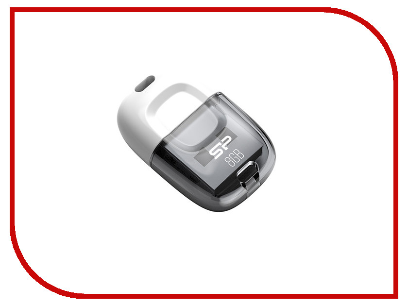 USB Flash Drive 8Gb - Silicon Power Touch T09 White<br>