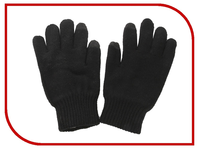 Теплые перчатки для сенсорных дисплеев DressCote Talkers Size M Black qepae f7511 outdoor sports full finger cycling gloves black white pair size m