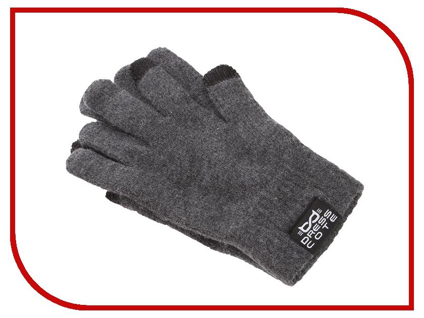 все цены на Теплые перчатки для сенсорных дисплеев DressCote Touchers Size M Grey онлайн