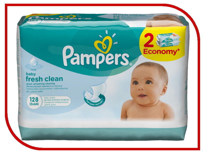 Салфетки Pampers Baby Fresh Clean 128шт 4015400439202<br>