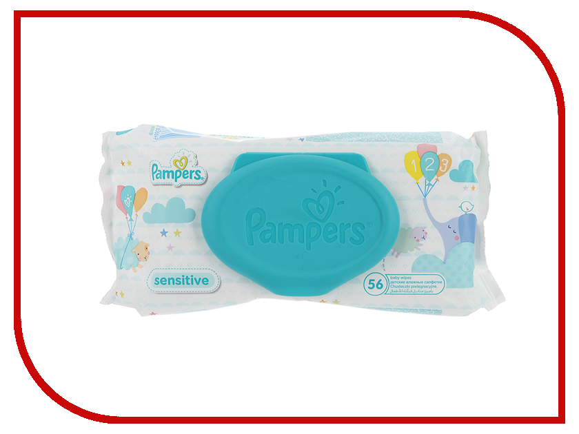 Салфетки Pampers Sensitive 56шт 4015400636649<br>