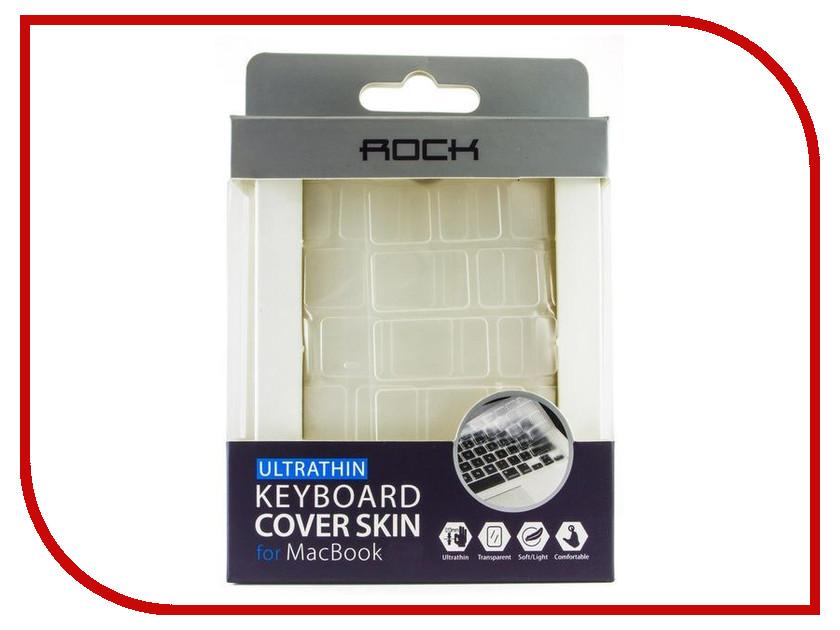Аксессуар ROCK Keyboard Cover Skin Силиконовая накладка на клавиатуру для APPLE MacBook Air / Pro 13 Transparent