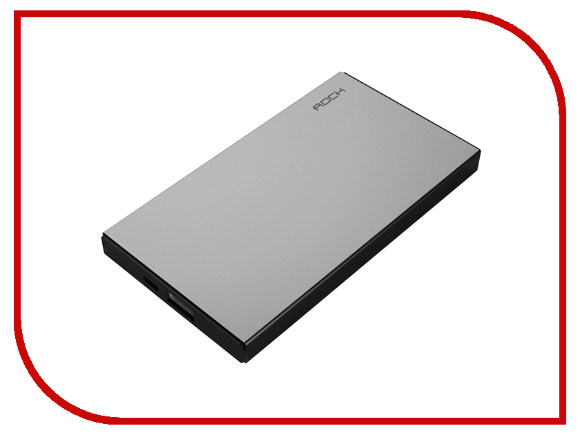 Аккумулятор ROCK Stone Power Bank 10000 mAh RMP0301 Space Grey