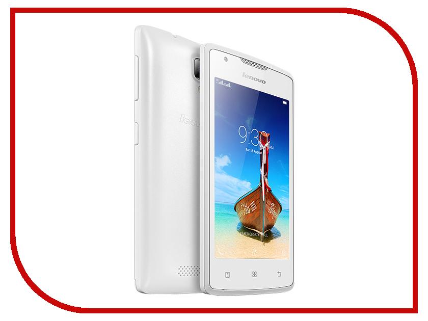 Сотовый телефон Lenovo A1000 Dual Sim White<br>