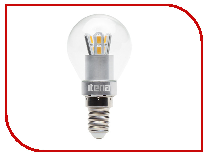 Лампочка Iteria Шар хрустальный 4W 4100K E14 804014<br>