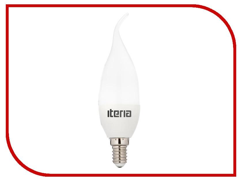 Лампочка Iteria Свеча на ветру 6W 2700K Е14 матовая 802011 лампочка iteria шар 6w 4100k e27 матовый 803008