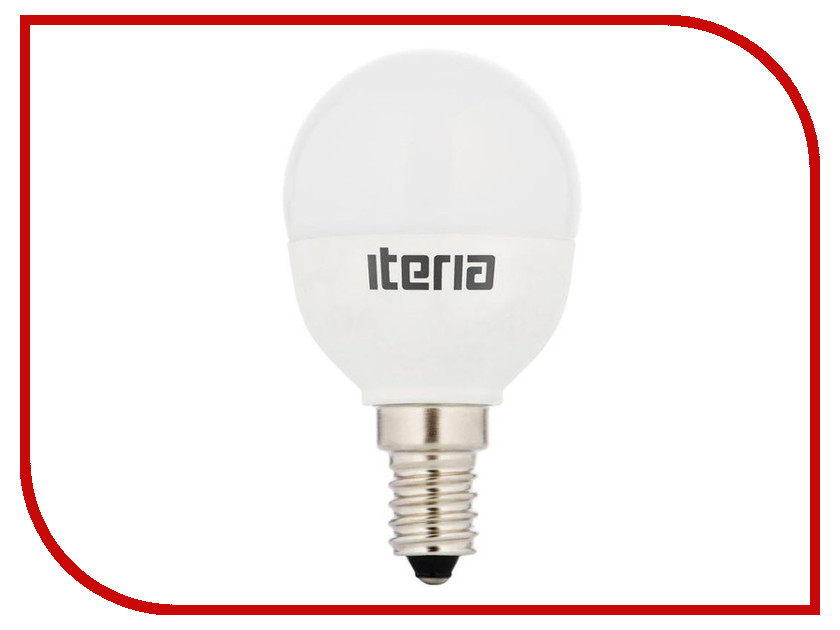Лампочка Iteria Шар 6W 4100K E14 матовая 803006<br>