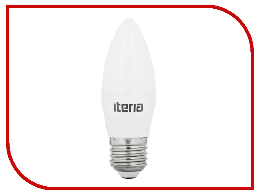 Лампочка Iteria Свеча 6W 4100K Е27 матовая 802008<br>