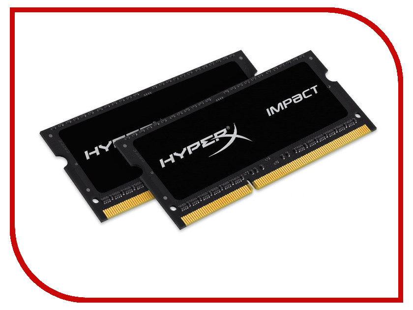 Модуль памяти Kingston DDR3 SO-DIMM 1866MHz PC3-14900 CL11 - 8Gb KIT (2x4Gb) HX318LS11iBK2/8 модуль памяти crucial ballistix elite ddr3 dimm 1866mhz pc3 14900 cl9 16gb kit 2x8gb ble2cp8g3d1869de1tx0ceu