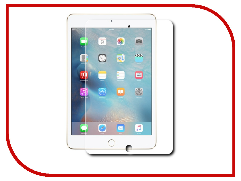 Аксессуар Защитное стекло Onext для APPLE iPad mini 4 4897044292333 40994 аксессуар защитное стекло rexant 3d для ipad mini 18 5001
