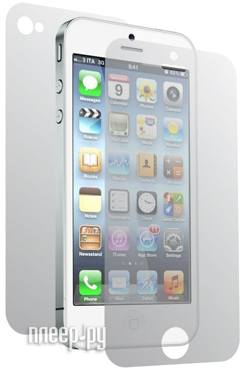 Аксессуар Защитная пленка iPhone 5 / 5S Litu матовая передняя + задняя<br>